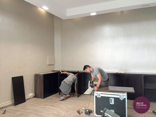 Colocando mobiliario